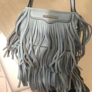 NWOT Rebecca Minkoff blue fringe cross body bag